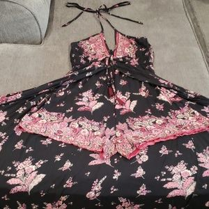 Black and pink romper